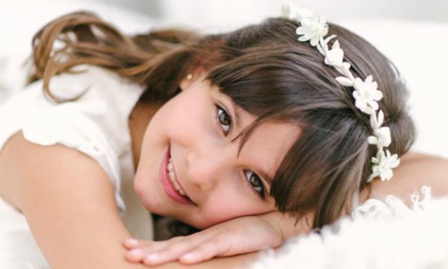foto de niña en comunion