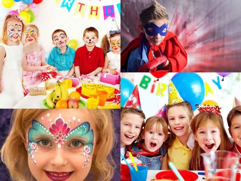 Celebración de pintacaras de niños