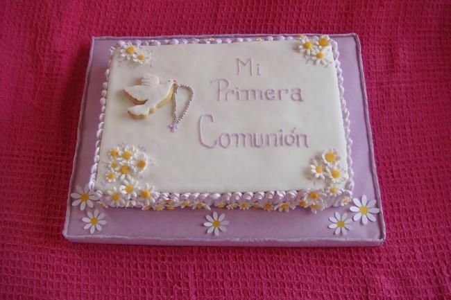 pastel para comuniones